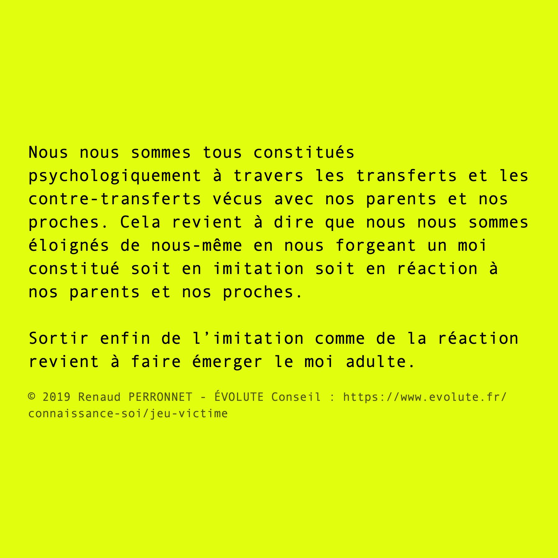 Imitation et réaction